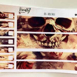 MINI KIT | Rose Skull Hobonichi Techo Weeks Weekly Kit | Hobonichi, Sticker Kit, Weekly Stickers, Weekly Kit, Cheap Hobo Kit
