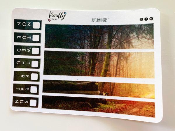 MINI KIT | Autumn Forest Hobonichi Techo Weeks Weekly Kit | Hobonichi, Sticker Kit, Weekly Stickers, Weekly Kit, Cheap Hobo Kit