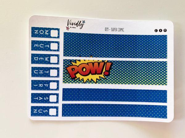 MINI KIT | Comic Book Super Hero Hobonichi Techo Weeks Weekly Kit | Hobonichi, Sticker Kit, Weekly Stickers, Weekly Kit, Cheap Hobo Kit