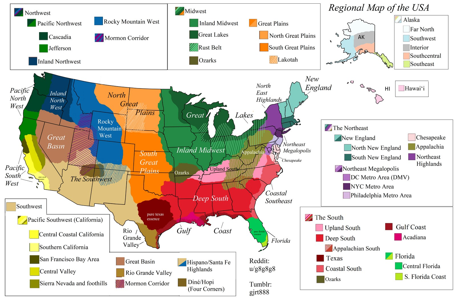 Updated 06/26/19 the map above shows california divided into eight areas. Regions Of The United States Vivid Maps