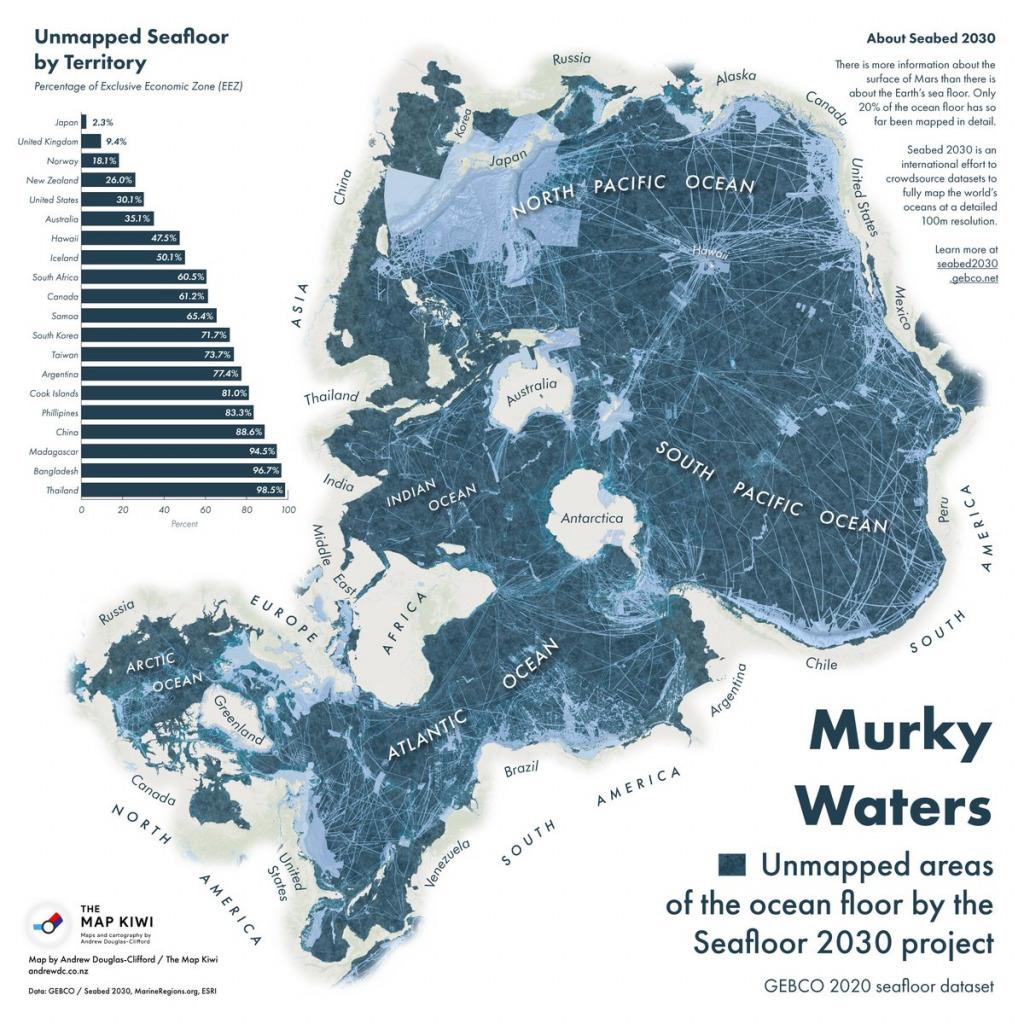 Unmapped Areas Of The Ocean Floor