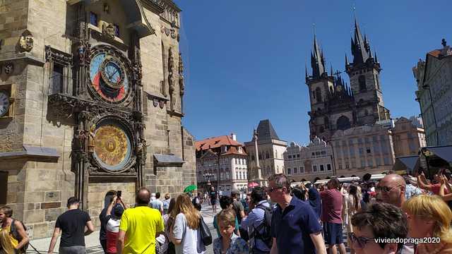 Reloj Orloj Plaza de la Ciudad Vieja Praga