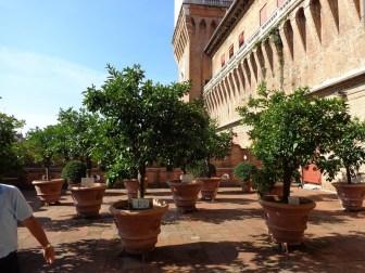 Orange court at Este castle