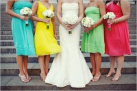 2010 Brightly Colored Bridesmaid Dresses
