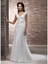 ivory wedding dresses for older brides