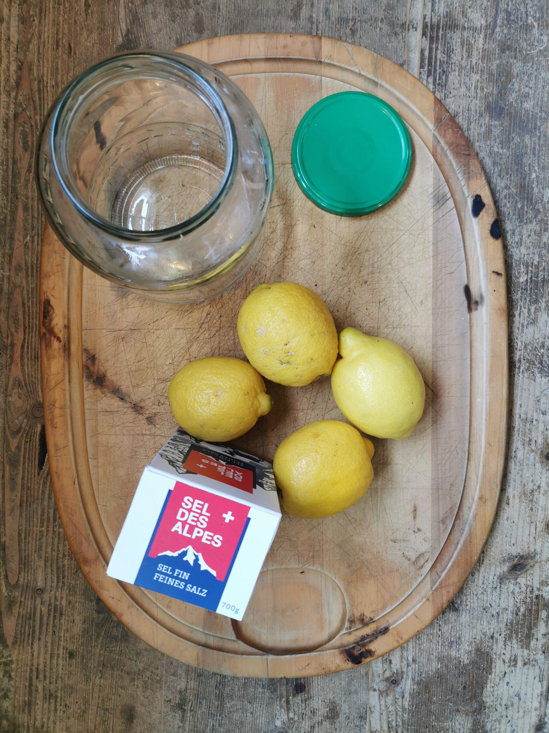 Zutaten für Eingelegte Zitronen