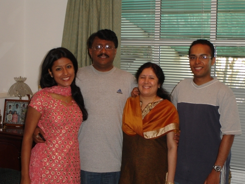 The family in Muscat