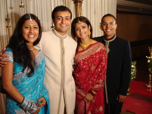 Keerthi, Dipu Cheta, Simi Chechi, and I