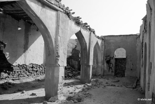 Interior of Ruined Mosque at Qantab Beach (Bandar Al Jissah)