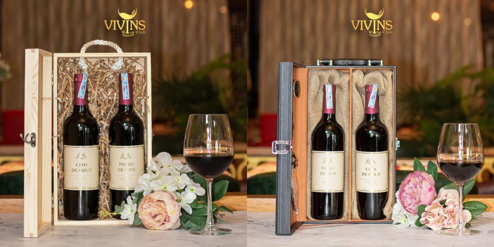 Combo Pays D'oc Red Wine - 1,380,000vnd (Hộp gỗ) / 1,480,000vnd (Hộp da)