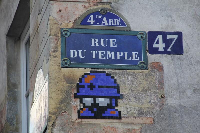 Pixel Art e Videogames anni 80 invadono le strade di Parigi