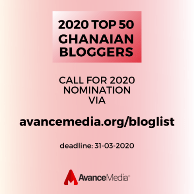 Call for Nomination: 2020 Top 50 Bloggers in Ghana Ranking
