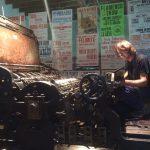 Entrevista a Belén Aguiló trabajo en imprenta tradicional