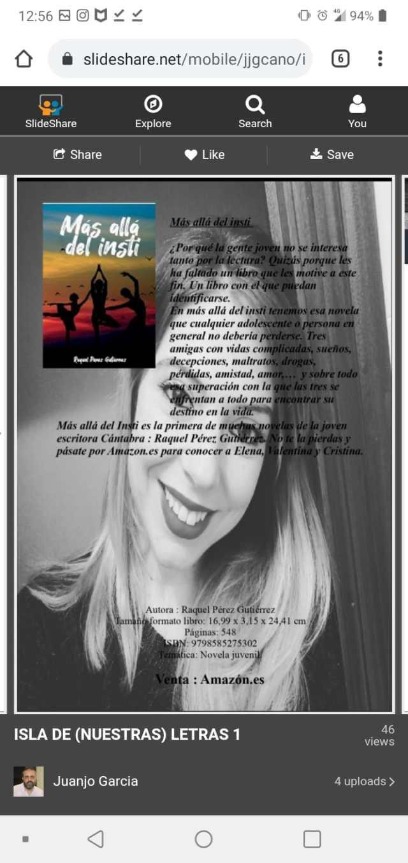 Más allá del insti. Entrevista a Raquel Pérez Gutiérrez. Autora