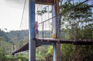 tours a la selva Baños Ecuador puente
