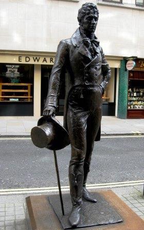 Londres. Jermyn Street. 'El bello' Beau Brummell