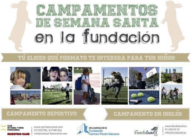 Fundación Carmen Pardo-Valcarce. Campamentos de Semana Santa.