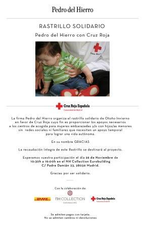 Pedro del Hierro. Rastrillo Solidario Otoño 2015 a favor de Cruz Roja.