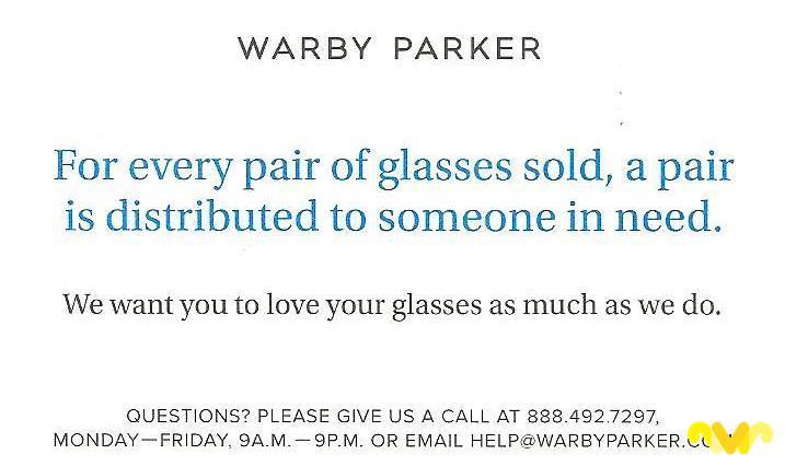 Gafas Solidarias Warby Parker
