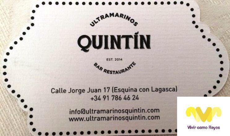 Ultramarinos Quintín. Bar-Restaurante