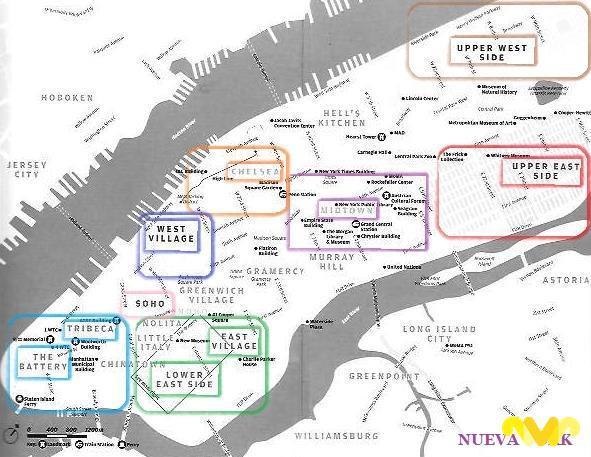 Principales Barrios de Nueva York