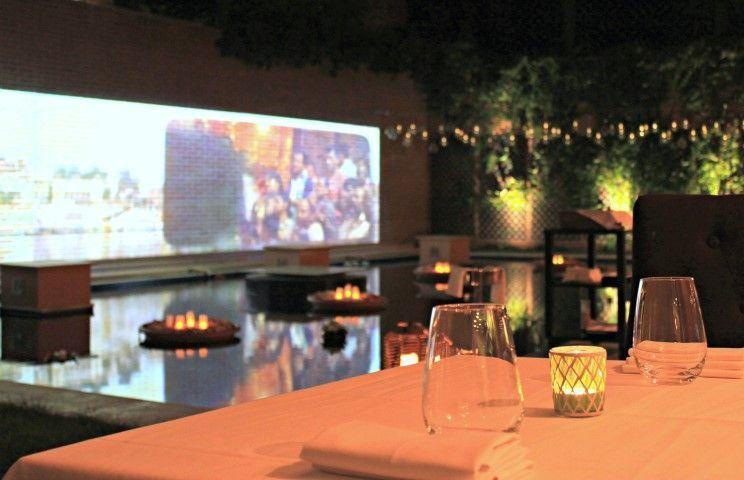 Jardín del restaurante Benarés Madrid