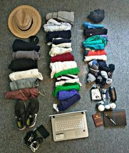 Lo que llevo conmigo en mi mochila.