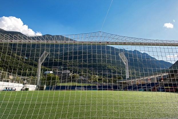 L'Estadi Nacional, au pied des montagnes d'Andorre accueillera la sélection suisse lundi soir dans le cadre de la troisième journée des qualifications au Mondial 2018 en Russie. © Oreste Di Cristino