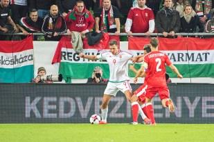 Adam Szalai, auteur du doublé hongrois n'a pas suffit aux Magyars; les hommes de Bernd Storck ont été dominés 3-2 face à la Suisse, qui a toujours pris l'avantage à Budapest. © Oreste Di Cristino