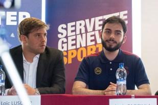 Les opérateurs de la nouvelle équipe du Servette Geneva eSport, Loïc Luscher (à gauche) et le manager Loris Caggiula. © Oreste Di Cristino / leMultimedia.info