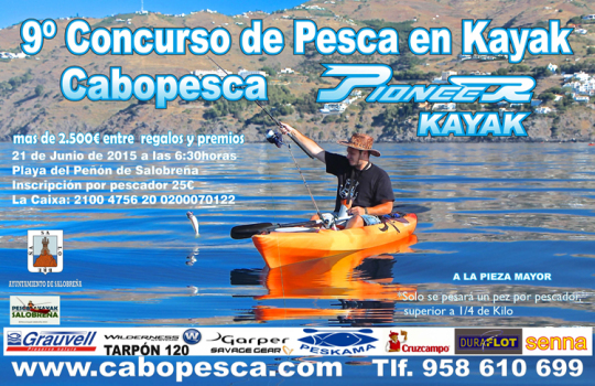 Cronica X Concurso Pesca en Kayak Cabopesca Salobreña