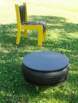 Móveis Sustentáveis Cadeira EcoHelp e Mesa Baú Garajão