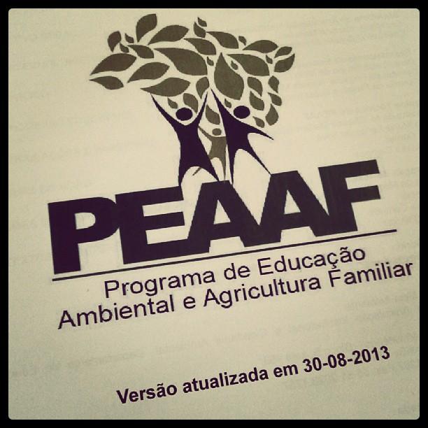Oficina Estadual do Programa de Educação Ambiental e Agricultura Familiar. Representando a Instituição IDAHRA, no qual faço parte!