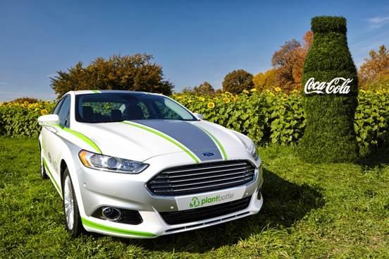 Ford e Coca-Cola Fazem parceria em material renovável no Fusion
