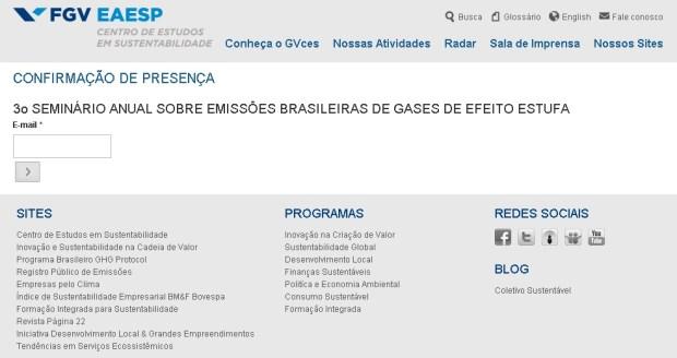 3º Seminário anual sobre emissões brasileiras de gases de efeito estufa