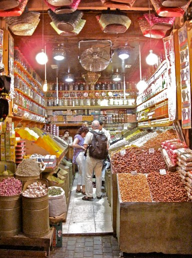 souk maroc épices
