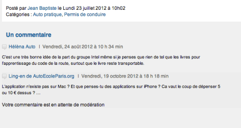Commentaire backlinking