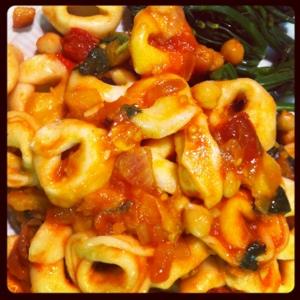 tomates,pois chiches, basilic, poireaux,cidre de glace