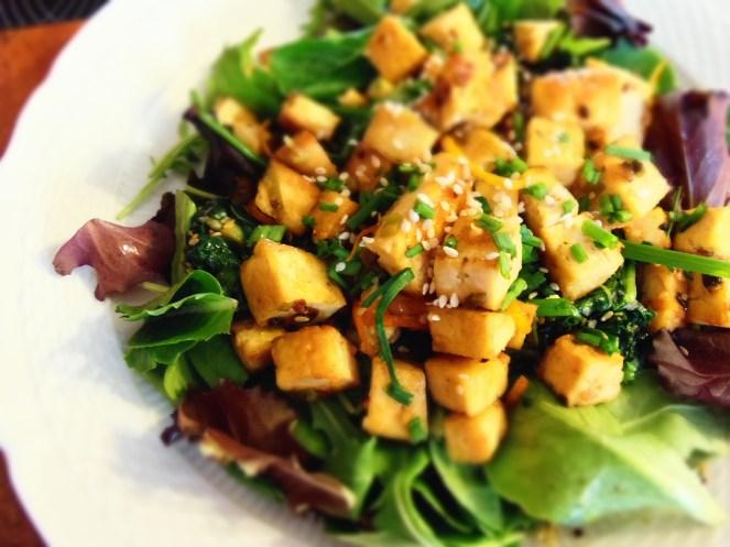 tofu glace orange et verdures