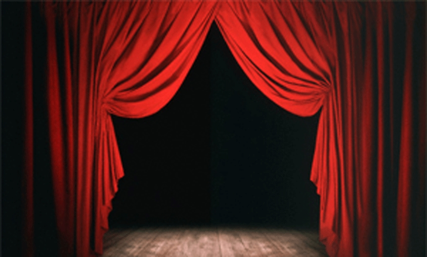 as the curtains are