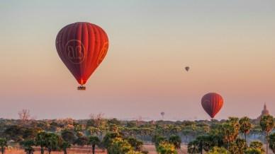 Balloons Over Bagan Dawn