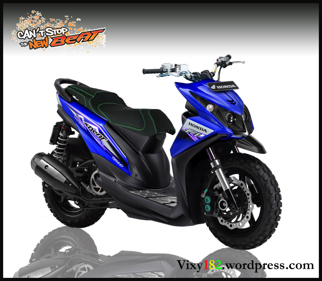 Design Modifikasi New beat pesaing yamaha TTX atau Xride