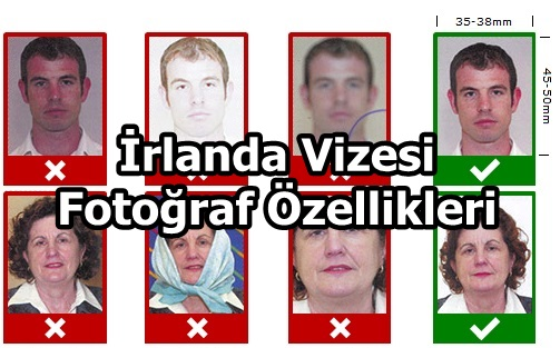 İrlanda Vizesi Fotoğraf Ölçüsü