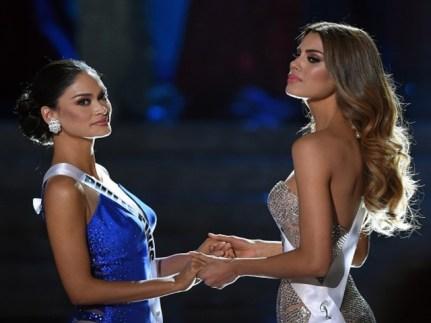 1.Seçilen Filipinli güzel Pia Alonzo Wurtzbach ile
