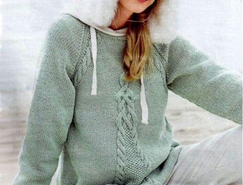 Пуловер-реглан А-образного силуэта