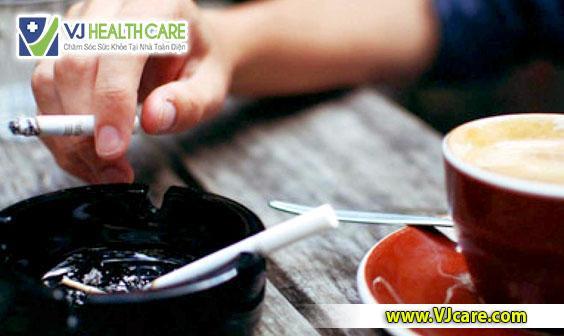 người bệnh rò hậu môn không nên hút thuốc lá, uống cà phê, bia rượu ASIA Health