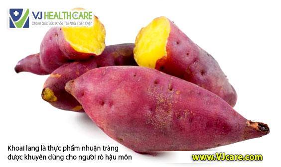 ro hau mon an khoai lang tot rò hậu môn ăn khoai lang tốt ASIA Health
