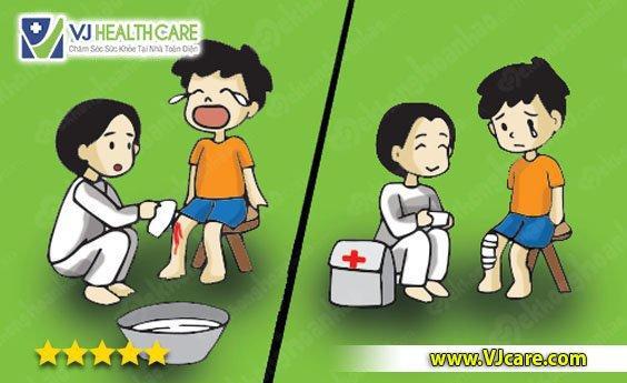 Cách xử lý khi trẻ bị trầy xước da hoặc rách da