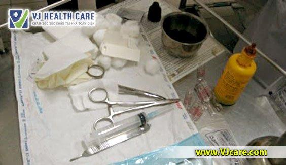 hướng dẫn quy trình thay băng rửa vết thương bộ dụng cụ thay băng rửa vết thương