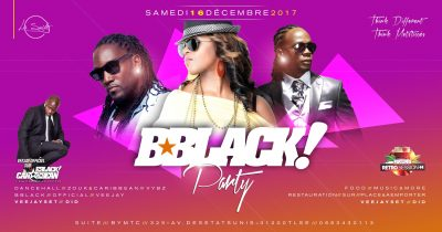 Bblack Party à la suite le 16 dec. 2017